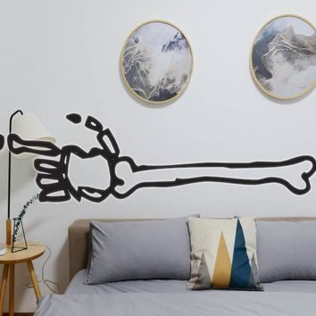 Halloween Skeleton Arm Vinyl Wall Decal - Removable (Indoor)