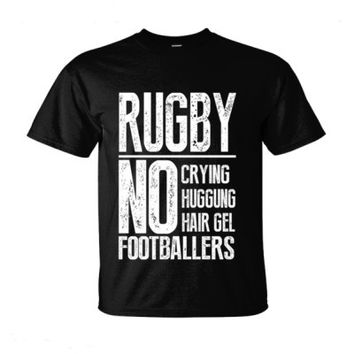 RUGBY NO CRYING HUGGUNG HAIR GEL FOOTBALLERS - Ultra-Cotton T-Shirt