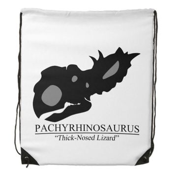 Pachyrhinosaurus Skull Drawstring Backpack