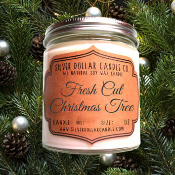 Fresh Cut Christmas Tree | Christmas Candle, 8oz Soy Candle, Christmas for her, Christmas gift idea, Holiday Candle, Winter Home Decor, Fir