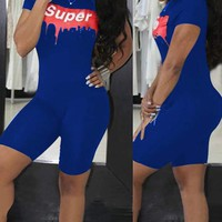 Super High Street Short Pants Jumpsuit