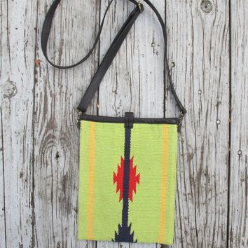 Saddle Blanket & Leather Cross Body Bag- two colors- 50% OFF!