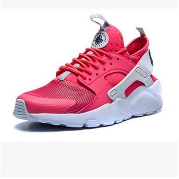 """NIKE"" Women Casual Running Sport Shoes Sneakers Huarache red"