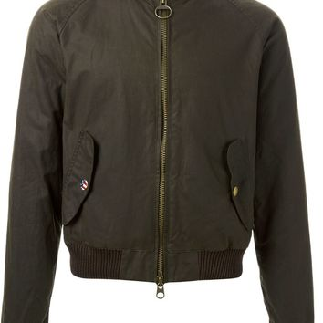 Barbour waxed bomber jacket
