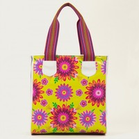 Chartreuse Floral Classic Tote - Totes - Bags
