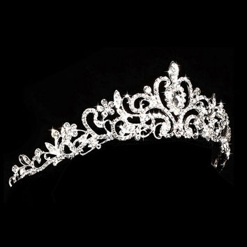 Crown - Elegant Bridal Rhinestone Crown, Tiara, Headpiece - Ships from GA, USA