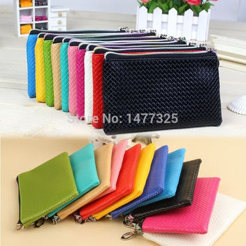 Premier Classic Wallets Candy Color Women Zipper Money Purse Handy Coins Change Cards Telephone Bag 8 Colors = 1958685700