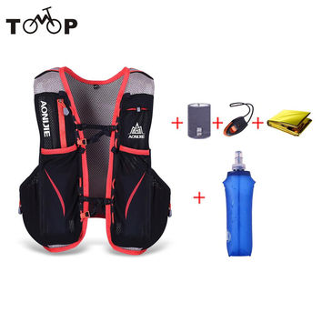 5L Outdoor Sport Running Vest Backpack Hydration Vest Pack + 250/500ML Water Kettle Cycling Vest for Men Women
