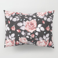 Vintage Pink Rose Flowers Pillow Sham by Smyrna