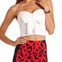BOW-FRONT PONTE CROP TOP