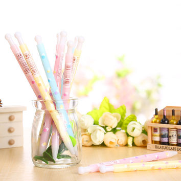 5 pcs lot kawaii ice cream ballpoint pen boligrafos pens material escolar papelaria stationery school supplies