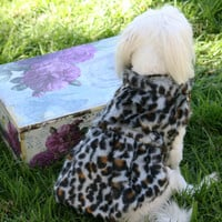 Leopard Dog Coat,  dog clothing, Dog Jacket, Dog Dress, Winter Clothing