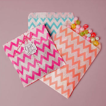 CHEAP 25pcs candy bag Wavy stripes paper sweet favour buffet bags wedding decoration Party Favour Candy Gift Bags Food Packaging