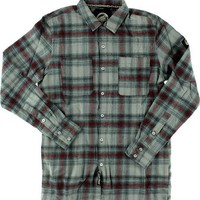 Santa Cruz Cliff Button Up Longsleeve Medium Black/Red/Grey Plaid