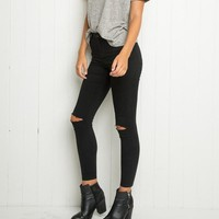 *Online Exclusive* Soft Skinny Jeans with Ripped Knee