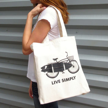 Recycled Cotton Canvas Tote - Live Simply