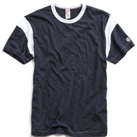 Mr. Porter Collaboration Tee in Navy/White