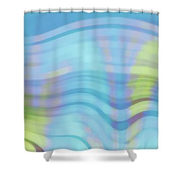 Peaceful Waves Shower Curtain for Sale by Ben and Raisa Gertsberg