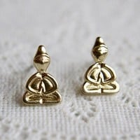 Gold dipped Yoga Post Stud Earrings