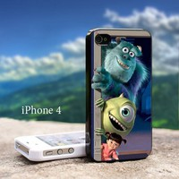 Monster Inc Disney Animation Iphone 4 / 4s Black Case