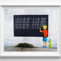 Banksy Print, I Must Not Copy, Simpsons Art, Street Graffiti Art, Urban Artist, Stencil Art, Street Art, Home Decor, Valentines Day Gift