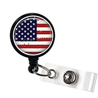 American Flag Retractable Badge Holder, Id Reel - Office Gifts - Teacher Gifts …