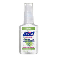 PURELL Advanced Hand Sanitizer NATURALS 2oz Pump Bottle (Pack of 6)