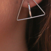 Unite Silver Triangle Earrings