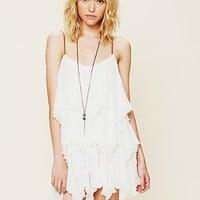 Free People Sleeveless Ruffle Tunic