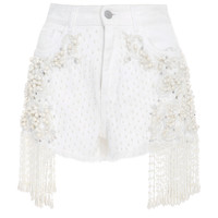 Bead Embroidered Denim Shorts | Moda Operandi