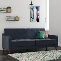 Novogratz Vintage Tufted Velvet Split Back Futon, Multiple Colors - Walmart.com