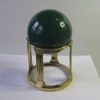 Large 4 Inch Mineral Sphere with Brass Stand