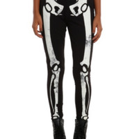 Skeleton Glow-In-The-Dark Leggings