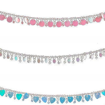 Iridescent Beaded Dangling Waist Chains