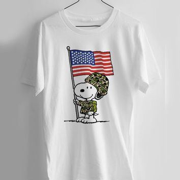 American Flag, Patriotic Snoopy T-shirt Men, Women, Youth and Toddler