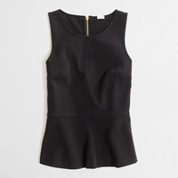 Factory ponte peplum top : tanks & camis | J.Crew Factory