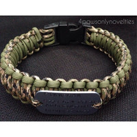 Custom Paracord Dog Collar with ID Tag Attached (your choice of colors)