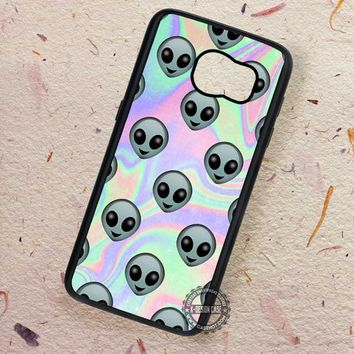 Alien Emoji Hologram Holographic - Samsung Galaxy S7 S6 S5 Note 7 Cases & Covers