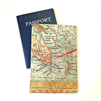 Passport Cover, Map Passport Holder, Passport Wallet, Passport Case, Map Passport Cover, Passport Holder Women Men Kids,Fabric Passport Case