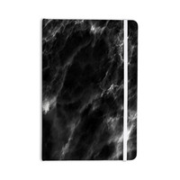 "Chelsea Victoria ""Black Marble"" Modern White Everything Notebook"