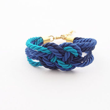 Nautical bracelet - beach bracelet - infinity rope bracelet - nautical jewelry - tie the knot - rope jewelry