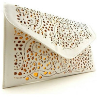 Mia Gold Accent Clutch