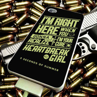 Five Second of Summer Heartbreak Girl for iPhone 4/4s/5/5s/5c/6/6 Plus Case, Samsung Galaxy S3/S4/S5/Note 3/4 Case, iPod 4/5 Case, HtC One M7 M8 and Nexus Case ***