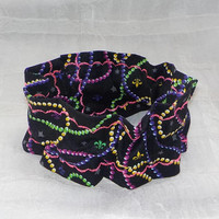 Mardi Gras Beads (Scrunchie) Dog/Cat Collar Cover Small