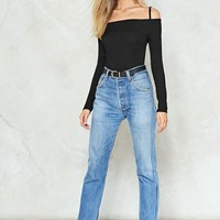 All's Square in Love Off-the-Shoulder Bodysuit