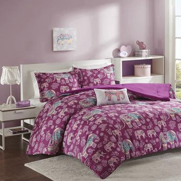 The Elsa Boho Elephant Motif Comforter Bedding SET