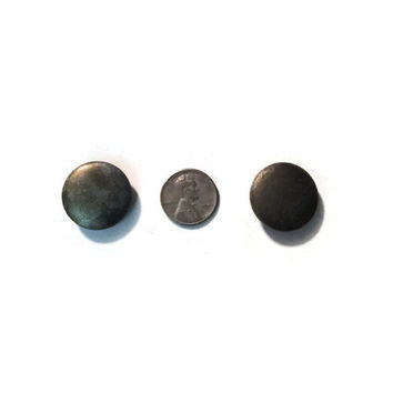 Vintage Metal Buttons 22mm with Shank Back Textured, Lot of 2  #56