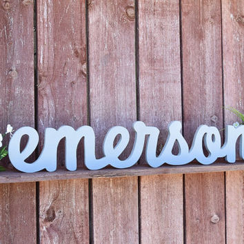 Emerson Nursery Baby Name Sign Wood - Nursery, Baby Name, Children's Name, Home Decor
