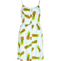 Blue Chelsea Girl pineapple print cami dress