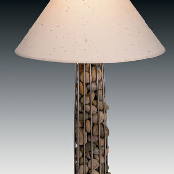 pebbles column table lamp